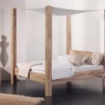 Himmelbett aus Holz