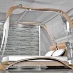 Moderner Stil von einem Himmelbett
